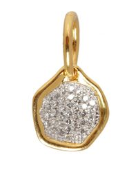 Monica Vinader - Metallic Mini Riva Gold Vermeil Diamond Pendant - Lyst