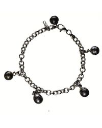 Black.co.uk | Dido Tahitian Black Pearl Charm Bracelet for Men | Lyst
