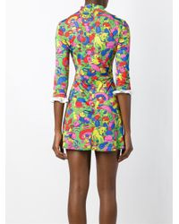Jeremy Scott - Blue Animals Print Dress - Lyst