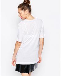 Love Moschino - White Racing Flags T-shirt - Lyst