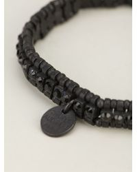 Philippe Audibert - Black 'broome' Beaded Bracelet - Lyst