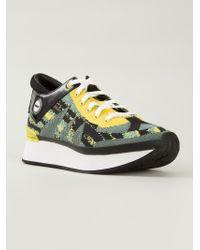 KENZO | Green 'white Noise' Sneakers | Lyst
