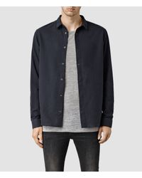 AllSaints - Black Billiard Shirt for Men - Lyst