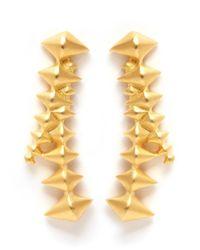 Eddie Borgo - Metallic Zip Cone Drop Earrings - Lyst