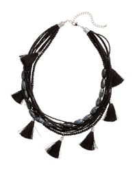 H&M - Black Multistrand Necklace - Lyst