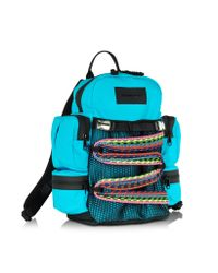 DSquared² - Blue Akira Small Turquoise Nylon Backpack for Men - Lyst