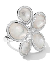 Ippolita | Metallic Sterling Silver Stella Teardrop Stone Ring in Motherofpearldiamonds | Lyst