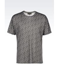 Emporio Armani | Gray Short-sleeve T-shirt for Men | Lyst