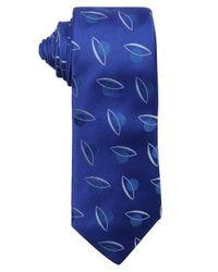 Armani - Royal Blue Geometric Dot Pattern Silk Tie for Men - Lyst