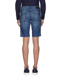 Alessandro Dell'acqua - Blue Denim Bermudas for Men - Lyst