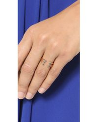Jennie Kwon - Blue Sapphire Cage Cuff Ring - Sapphire/gold - Lyst