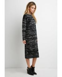 fcfc06928ec Forever 21. Women s Black Marled Midi Sweater Dress You ve Been Added To The  Waitlist