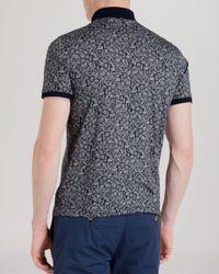 Ted Baker - Blue Spyda Printed Polo Shirt - Slim Fit for Men - Lyst