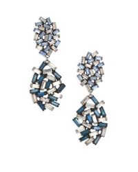 DANNIJO | Metallic Mayfield Crystal Drop Earrings | Lyst