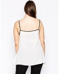 ASOS | White Cami With Hanky Hem | Lyst