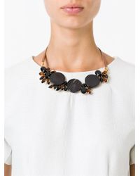 Marni | Black Crystal Necklace | Lyst