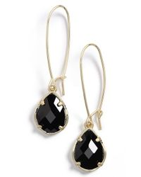 Kendra Scott | Black 'dee' Teardrop Earrings | Lyst