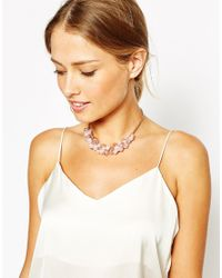 Ted Baker | Metallic Bead Cluster Necklace | Lyst