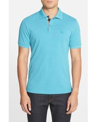 Burberry Brit | Blue Modern Fit Pique Polo for Men | Lyst