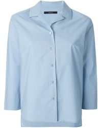 ODEEH | Blue Three-Quarter Sleeve Shirt | Lyst