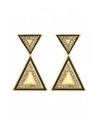 House of Harlow 1960 - Metallic Teepee Drop Earrings - Lyst
