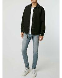 TOPMAN - Gray White Contrast Sleeve T-shirt for Men - Lyst