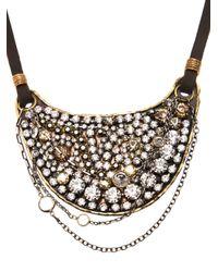 Beth Orduna | Metallic Crystal Bib Necklace | Lyst