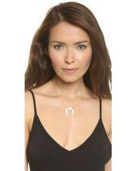Jacquie Aiche | Metallic Bone Necklace - Bone/gold | Lyst