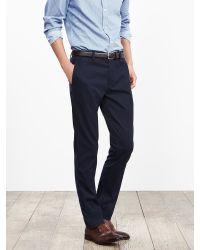 Banana Republic | Blue Fulton Skinny Cotton Chino for Men | Lyst