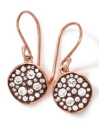 Ippolita | Pink 18k Rose Gold Stardust Flower Mini Diamond Drop Earrings | Lyst