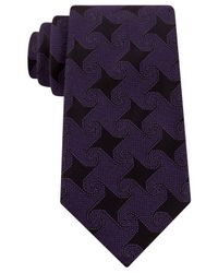 Sean John | Purple Pinwheel Geo Tie for Men | Lyst