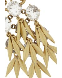 J.Crew | Metallic Jeweled Quill Gold-Plated Crystal Necklace | Lyst