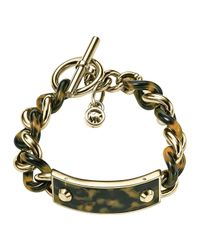 Michael Kors | Gray Twisted Plaque Bracelet | Lyst