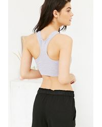 Silence + Noise | Gray Piper Racer Bra Top | Lyst
