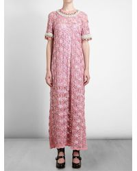 Ashish - Pink Jewelled Sequinned Long Dress - Lyst