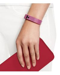 Tory Burch - Pink For Fitbit Silicone Printed Bracelet - Lyst