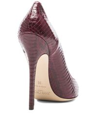 Jimmy Choo - Purple Glossy Panelled Anouk Elaphe Snakeskin Pumps - Lyst