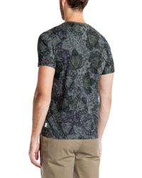 Ted Baker | Gray Othelo Leaf Print T-shirt for Men | Lyst