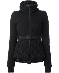 Moncler Grenoble - Black Belted Quilted Jacket - Lyst