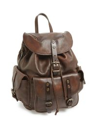 Frye - Brown 'veronica' Leather Backpack - Lyst