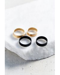 Urban Outfitters | Metallic Cuff Layering Ring Set | Lyst