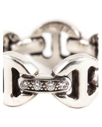 Hoorsenbuhs | Metallic Tri-link Diamond Ring | Lyst