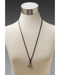 M. Cohen - Black Shark Tooth Necklace for Men - Lyst