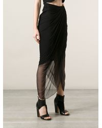 Emanuel Ungaro - Black Asymmetric Draped Skirt - Lyst