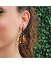 Inbar - Orange Citrine Drop Earrings - Lyst