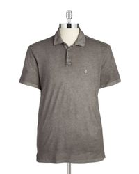 John Varvatos - Gray Cotton Polo for Men - Lyst