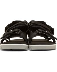 MSGM - Black Nylon Double_strap Sandals for Men - Lyst