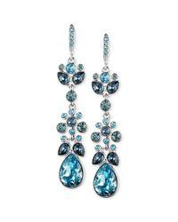 Givenchy - Blue Swarovski Crystal Chandelier Earrings - Lyst