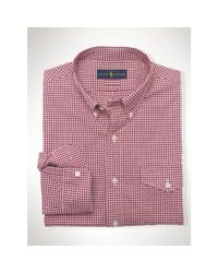 Polo Ralph Lauren - Pink Slim-fit Stretch Oxford Shirt for Men - Lyst