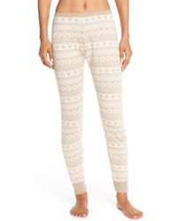 UGG | Natural Hazelton Fair Isle Pants  | Lyst